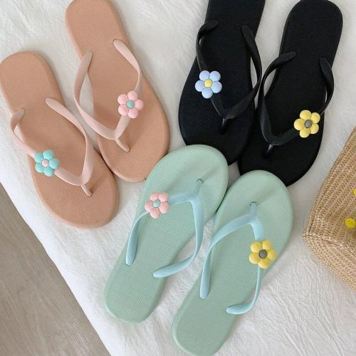 Women's Summer Slippers Ladies Open Toe Slip On Non Slip Flower Flip Flops Woman Comfortable Casual Female Fashion Slipper 2020