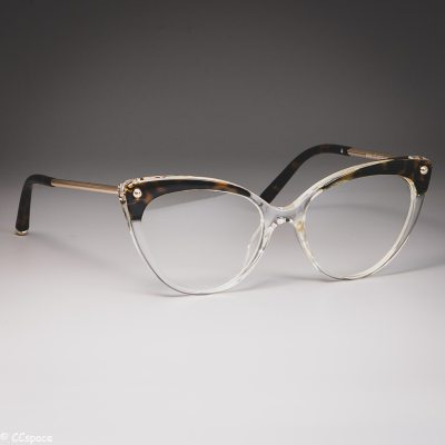 45651 Cat Eye Glasses Frames Plastic titanium Women Trending Rivet Styles Optical Fashion Computer Glasses