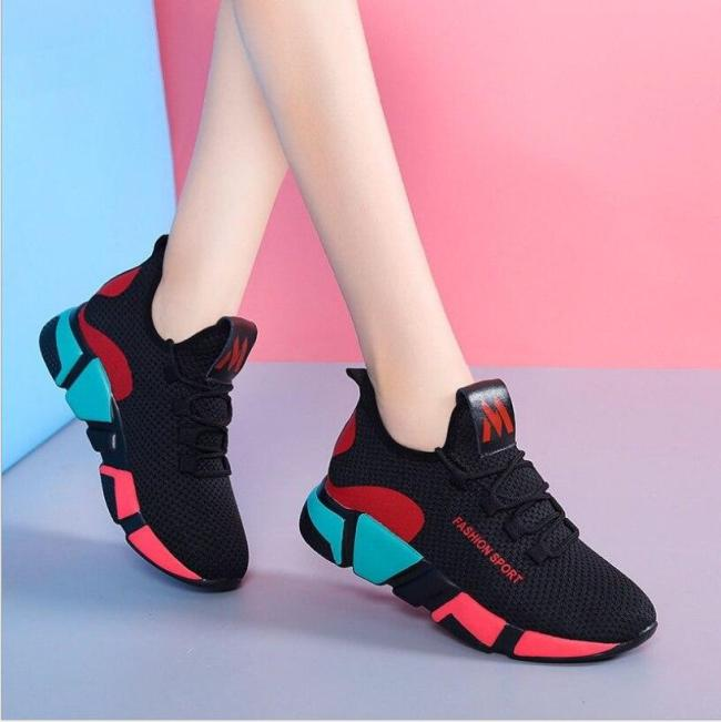 2020 New Women Casual Shoes Breathable Mesh Platform Sneakers New Fashion Mesh Sneakers Women Tennis Shoes For Women