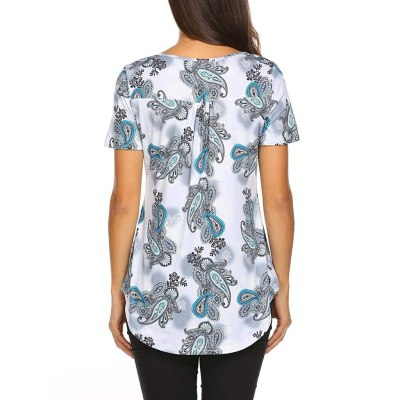 Fashion Female Short Sleeve Print Tops Simple Casual Flare Tunic Womens Blouse Ladies Plus Size Blouse Shirt Vetement Femme 2020