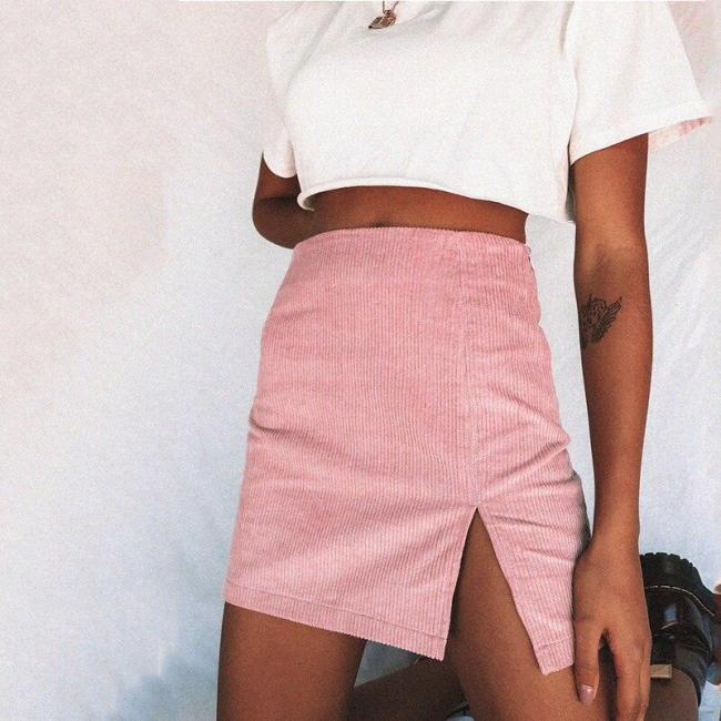 Vinatge velvet mini skirt women casual pink short skirt beach boho chic skirt elegant office skirt 2020 plus size