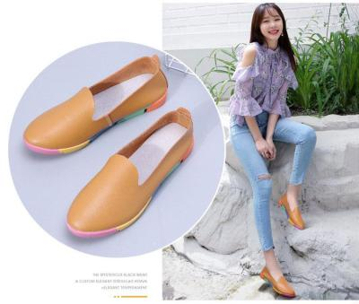 Plus size Women flats shoes loafers 2019 new genuine leather Pointed Toe shoes woman slip on fashion ladies shoes flats women