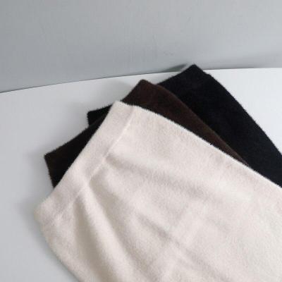 Mink Cashmere Pencil Skirt Women Knee-length Autumn Winter Thick Midi Knitted Skirt Sexy Split Bodycon Skirt Elastic Waist W124