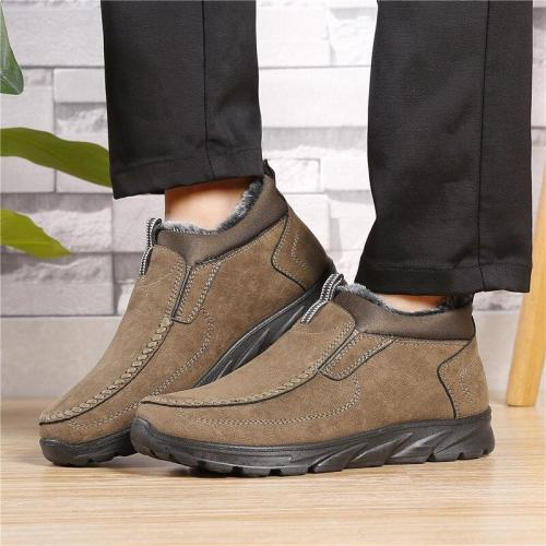 UPUPER New Winter Boots Men Shoes Footwear Comfort Waterproof Snow Boots Men Ankle Shoes Casual Warm Winter Sneakers Men Booties