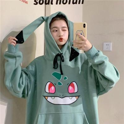 Amine Pokemon Hoodies Women Hip Hop Sweatshirt Girls Harajuku Long Sleeve Japan Hoodie Streetwear Cute Cartoon Hoodie Men Womens
