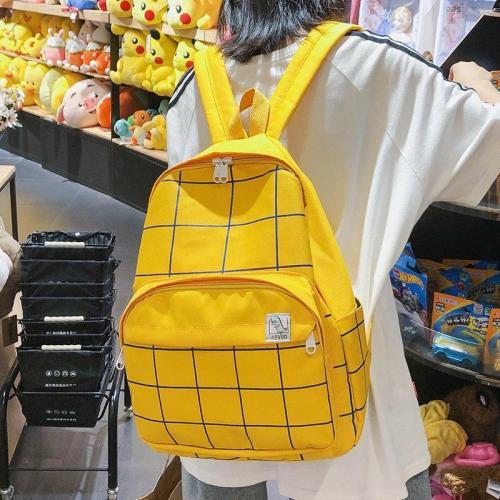 Female Oxford Cute Backpack Plaid Student Women Girl School Bag Fashion Striped Backpack Kawaii Ladies Harajuku Bag book Teenage