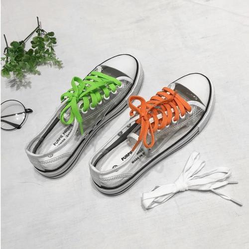 2020 Autumn New Canvas Shoes Transparent Trend Women Sneakers Ladies Lace-Up Platform Jelly Fashion Casual Ladies Shoes W21-32