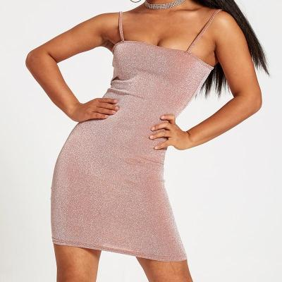 Chrleisure Sexy Nightclub Dress Summer Slim Women's Mini Tight Dress Thin Shoulder Strap Women's Short Dress