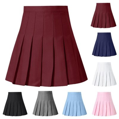 top selling product in 2020 Women's Fashion High Waist Pleated Mini Skirt Slim Waist Casual Tennis Skirt  accept dropshipping