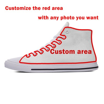 Ahegao face Funny New Arrive Fashion Lightweight High Top Canvas Shoes Men Women Casual Breathable Sneakers
