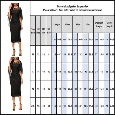 Black Lace Dress For Women Ruffle Short Sleeve Summer Floral Printed Ladies Midi Dress Bodycon Formal Work Wear Female Dress D30