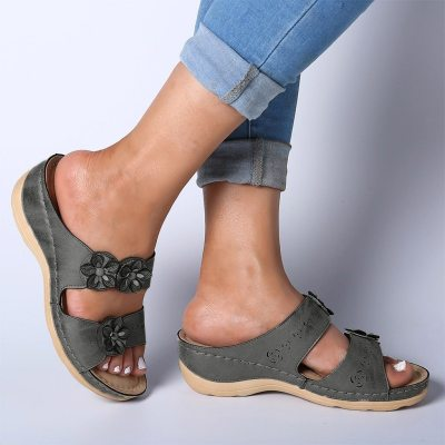 Women's shoes Summer Open Toe Comfy Slippers Super Soft Thick Bottom Low Heels shoes Comfortable Walking Cusion slipper#g40