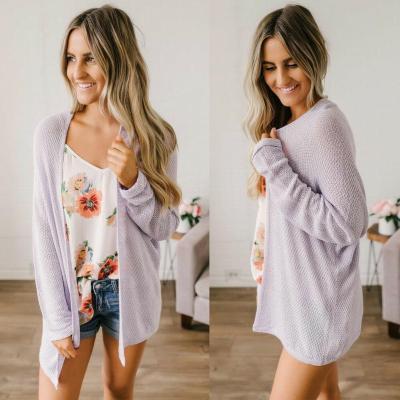Autumn Women Crochet Kimono Hollow Knit Tops Knitwear Coat Long Sleeve Knitted Cardigan Loose Sweater Outwear Long Jacket Coat