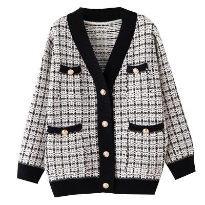 Top quality Luxury Brand Cardigans Sweater Jacket Coat Women Female Outerwear European Coat Casual Winter Sweater Women Grils