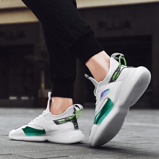 2020 New Fashion Sneakers Lightweight Men Casual Shoes Breathable Male Footwear Lace Up Walking Shoe
