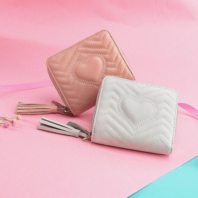 Short Wallet Woman 2020 New Small Fresh Wallet Folding Multifunctional Zipper Coin Purse