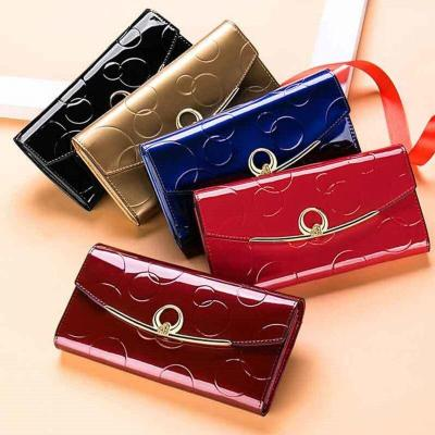 Long Women Genuine Leather Wallet Cow Leather Female Purse Luxury Brand Womens Leather Wallets Large Capacity Ladies Purses