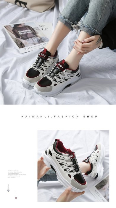 Spring Autumn Women's Vulcanize Shoes Platform Ladies Sneakers New Increased White Casual Shoes Women Sapato Feminino 2020 VT611