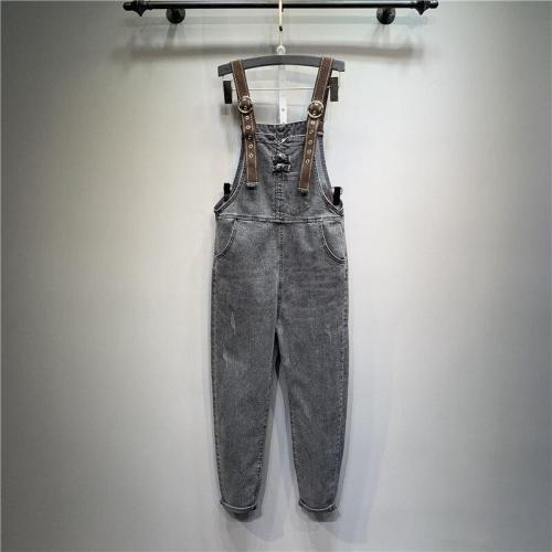 High Quality Korean Summer New Plate Buttons Denim Pants Loose Smoky Nine Jumpsuits Jeans Pants Women Fashion Streetwear 2020