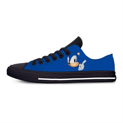 Men's Casual Shoes Sonic The Hedgehog Cartoon Hot Cool Fashion Funny Canvas Shoes Low Top Lightweight Breathable Men Women