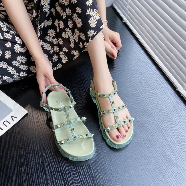 2020 New Arrival Women Platform Sandals Rivets Studs Ladies Summer Punk Shoes Buckle Strap Spikes Female Gladiator Sandals