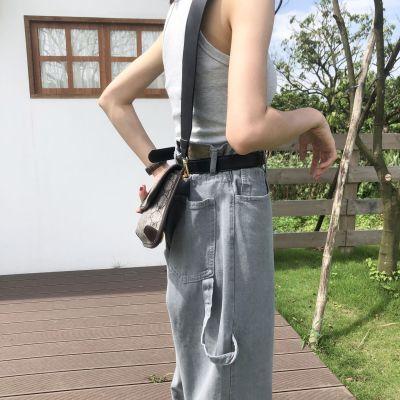 Spring Korean New Denim High-waisted Loose Casual Pockets Gray Washed Retro Harem Jeans Long Pants Women Fashion Streetwear 2020
