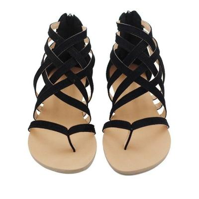 Women Sandals Fashion Gladiator Sandals For Beach Summer Shoes Female Rome Style Flat Sandals Plus Size Casual Sandalias Mujer