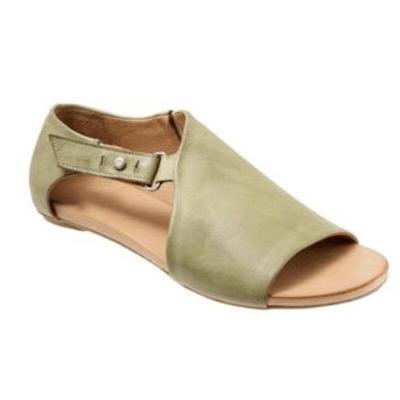 Women Sandals Soft Leather Flat Sandals Summer Shoes Woman Plus Size Peep Toe Beach Sandals Chaussures Femme Women Casual Shoes