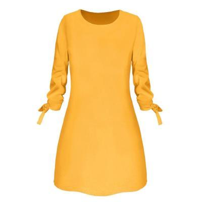 New Dress Female Women Fashion Printed Cat Animal Bow O-Neck Long Sleeve Blouse Mini Dress Winter Dresses Robe Pull Femme Hiver
