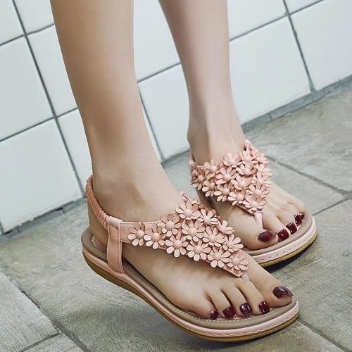 Summer women sandals 2020 new arrival fashion shoes woman clip toe sandals women solid color outdoor women shoes plus size