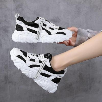 2020 Autumn Platform Sneakers For Women Fashion Brand Black Chunky Vulcanized Shoes Tenis Female White Casual Shoes Woman 5cm