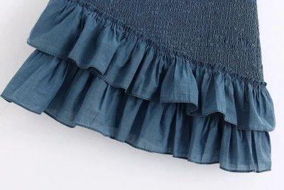 Chiffon ruffle women skirt casual mini skirt high waist beach boho chic skirt elegant vintage office skirt female  2020