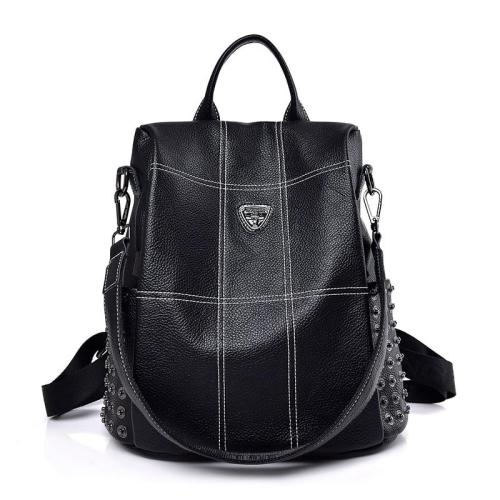2020 New Women Leather Backpacks For Girls Sac a Dos Vintage Plaid Backpack Female Shoulder Bags Travel Bagpack Ladies Mochilas