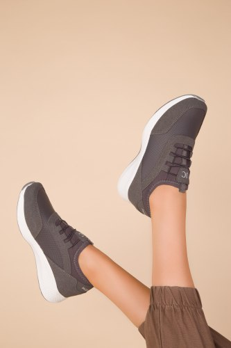 SOHO Black-Orange Women Sneaker 15226