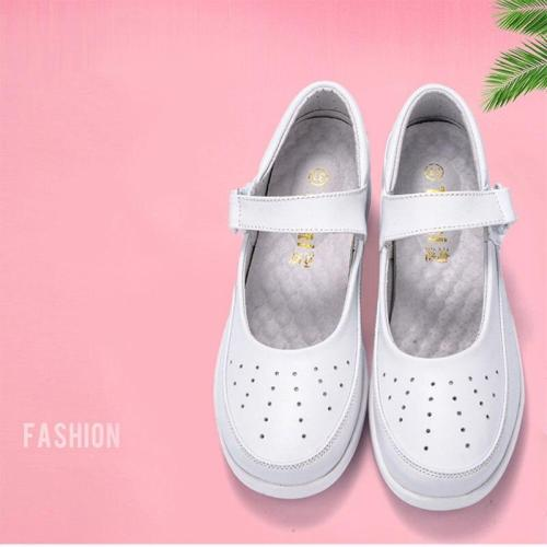 NEW 2020 Summer Hollow out design Casual shoes white wedge heels breathable anti-skid air cushion pregnant women's shes