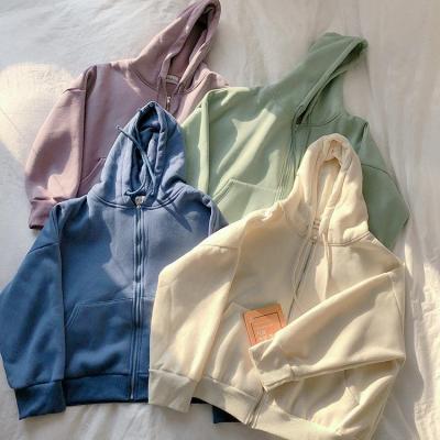 4 colors 2020 Fashion Women Autumn Winter Hoodie Coats Warm Zipper Jacket Casual Clothing Tops Female Coat womens (F3588)