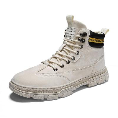 Leather Martin Boots Men's Autumn And Winter Brock Casual Shoes Increased Wear-resistant Tooling Boots Male
