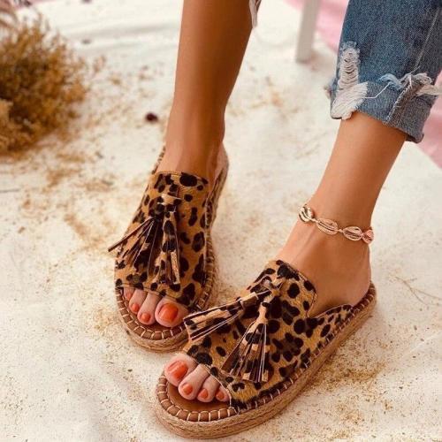 Summer Women Designer Slippers Tassel Open Toe Loafers Slipper Indoor And Outdoor Beach Ladies Shoes