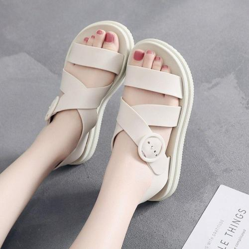 Women Sandals Soft PVC Platform Rome Summer Shoes Woman Beach Sandals Open Toe Narrow Band Gladiator Ladies Casual Sandalias