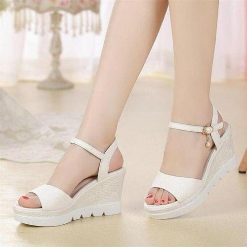 Natascha Women Sandals Summer Female Sandals Women's Wedges Super High Heels Shoes Woman Fashion Collocation Daily Dress Shoes