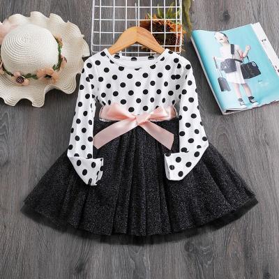 3-12 Years Girls Polka-Dot Dress 2020 Summer Sleeveless Bow Ball Gown Clothing Kids Baby Princess Dresses Children Clothes