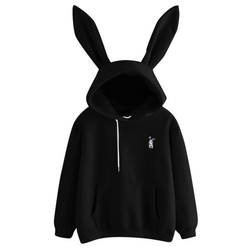 Womens Rabbit Ear Girl Long Sleeve Hoodies Sweatshirt Autumn Winter Cotton Hooded Coat Lovely Female Bunny Hoodies #F5