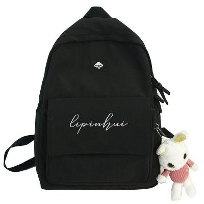 Fashion Waterproof Nylon Backpack Cute Women Kawaii School Bag Student Girl Backpack Embroidery Female New Bag Book Ladies Brand