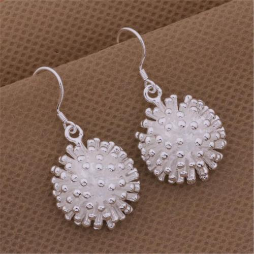New retro E114 high quality  silver color  jewelry trend cute women simple earrings classic style charms jewelry fashion