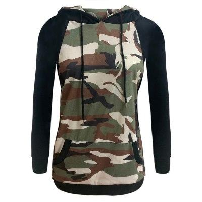 Women Sweatshirts Streetwear Camouflage Print Hoodies Pullovers 2020 Autumn Casual Long Sleeve O-Neck Tops Female Sweatshirt #F5