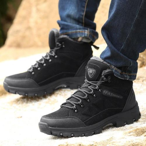 Designer Men Winter Snow Boots 2020 Winter Men BootsWaterproof Men Super Snow Boots Lace Up Men Ankle Boots Warm Shoes