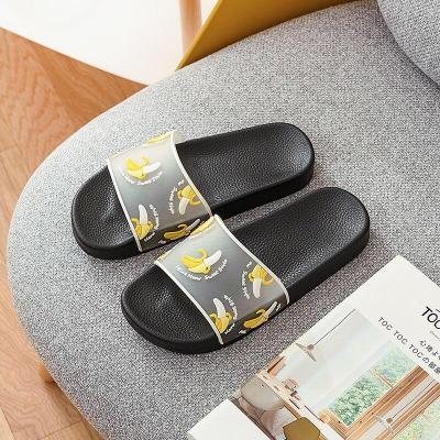 Summer Women Slippers Beach Slides Woman Shoes Cartoon Fruit  Slip On Ladies Girls Flip Flops Slide Sandals Female Indoor Shoes