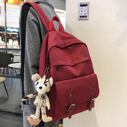 Women Student Cute Backpack Waterproof Nylon School Bag Girl Kawaii Fashion Harajuku Backpack Buckle Luxury Female Book Bag Lady