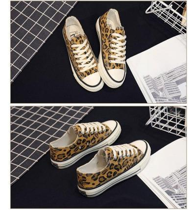Spring/Autumn Women Sneakers Tenis Feminino Canvas Shoes Star Leopard Print Trainers Walking Shoes Woman Chaussure Femme US-17