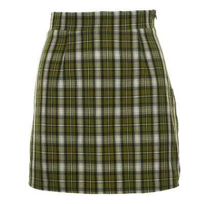 Foridol Plaid Green Skirts Womens High Waist Streetwear Chic Mini Skirt 2020 Summer New Vintage Skirts Bottom Faldas